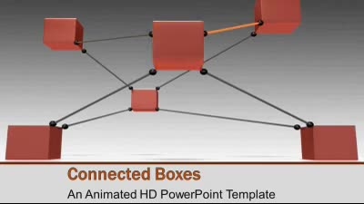 ID# 7493 - Boxes Connected - PowerPoint Template
