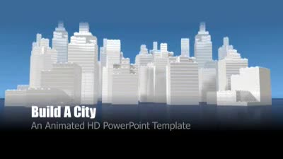 ID# 7494 - Build A City - PowerPoint Template