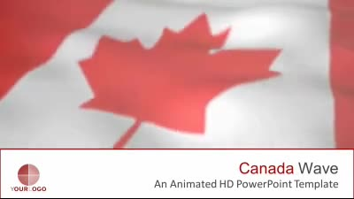 ID# 7495 - Canada Flag - PowerPoint Template