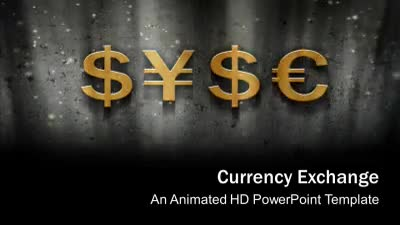 ID# 7529 - Currency Exchange - PowerPoint Template