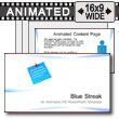 ID# 7548 - Abstract Blue Streak - PowerPoint Template