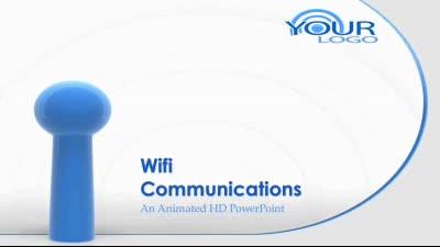 ID# 7575 - wifi wireless internet symbol - PowerPoint Template