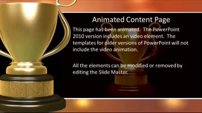 Golden trophy a powerpoint template from presentermedia id7595 widescreen template golden trophy pronofoot35fo Images