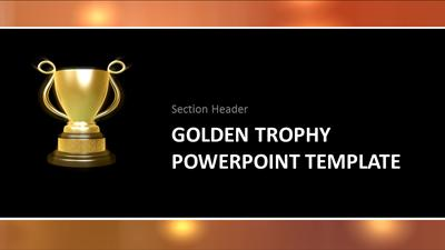Golden trophy a powerpoint template from presentermedia id7595 widescreen template golden trophy toneelgroepblik Image collections