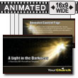 Light In Darkness - PowerPoint Template