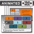 Eight Interactive Panels Tool Kit - PowerPoint Template