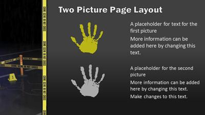 crime scene investigation - a powerpoint template from, Powerpoint templates