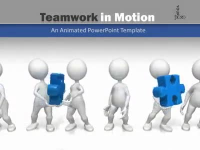 Teamwork in motion a powerpoint template from presentermedia powerpoint template toneelgroepblik Images