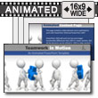 Teamwork In Motion PowerPoint template