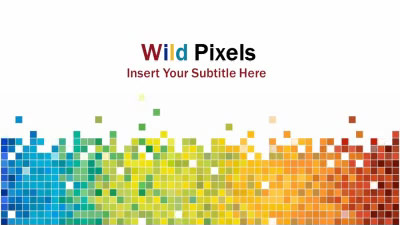 ID# 8233 - Wild Pixels - PowerPoint Template