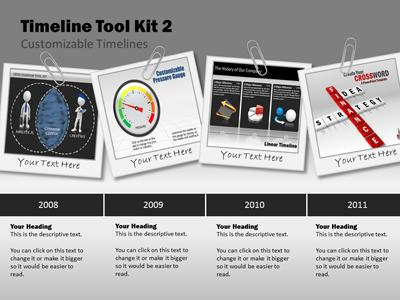 Timeline Tool Kit A PowerPoint Template From PresenterMediacom - Free timeline template for mac