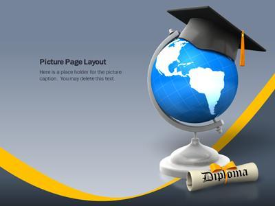 graduation leap  a powerpoint template from presentermedia, Templates