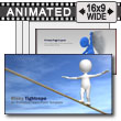 Risky Tightrope - PowerPoint Template