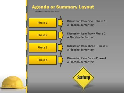 Hard Hat Work Safety - A Powerpoint Template From Presentermedia.Com