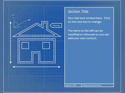Blueprint tool kit a powerpoint template from presentermedia home powerpoint templates malvernweather Images
