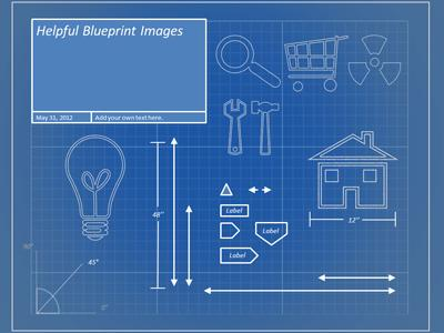 Blueprint tool kit a powerpoint template from presentermedia powerpoint template loading preview close malvernweather Images