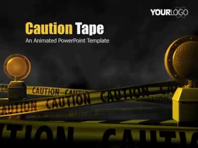 Caution Tape - A Powerpoint Template From Presentermedia.Com