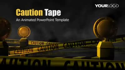 Caution tape a powerpoint template from presentermedia caution tape powerpoint template toneelgroepblik Image collections