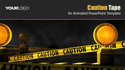 Caution tape a powerpoint template from presentermedia toneelgroepblik Image collections