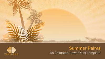 Summer palms a powerpoint template from presentermedia home powerpoint templates toneelgroepblik Images