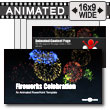 ID# 8819 - Fireworks Celebration - PowerPoint Template