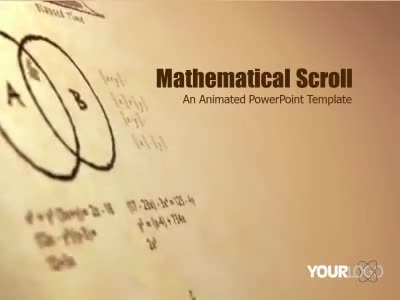 Math scroll a powerpoint template from for Powerpoint templates mathematics free download