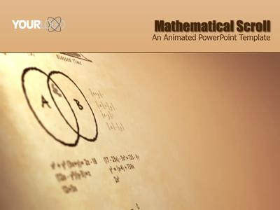 Math scroll a powerpoint template from presentermedia toneelgroepblik Gallery