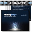 ID# 9073 Reading Magic PowerPoint Template