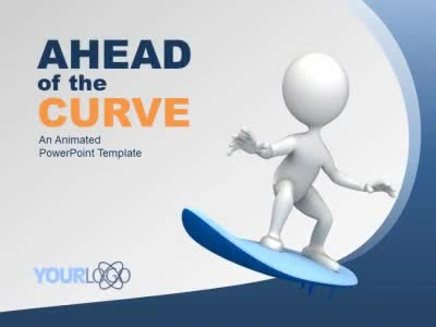 ID# 9104 - Ahead Of The Curve - PowerPoint Template