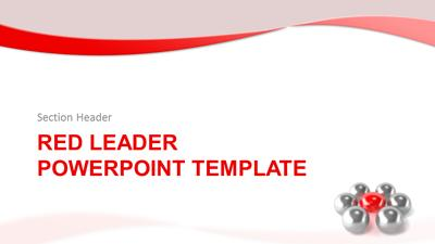 Red leader a powerpoint template from presentermedia id9105 standard template red leader toneelgroepblik Choice Image