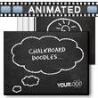 ID# 9152 Chalkboard Doodles PowerPoint Template