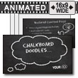 Chalkboard Doodles - PowerPoint Template