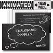 ID# 9250 - Chalkboard Doodles - PowerPoint Template