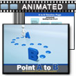 Point A To B PowerPoint template