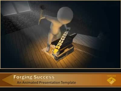 ID# 9371 - Forging Success - PowerPoint Template