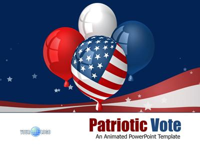 Patriotic vote a powerpoint template from presentermedia toneelgroepblik Images