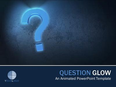 powerpoint questions and answers template - question glow a powerpoint template from