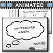 ID# 9780 Whiteboard Doodles PowerPoint Template
