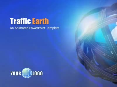 traffic earth - a powerpoint template from presentermedia, Modern powerpoint