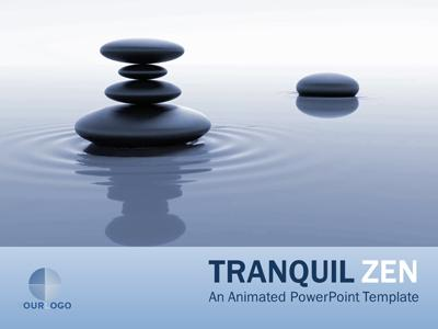 tranquil zen - a powerpoint template from presentermedia, Presentation templates