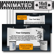ID# 9991 - Advertising Booth Display - PowerPoint Template