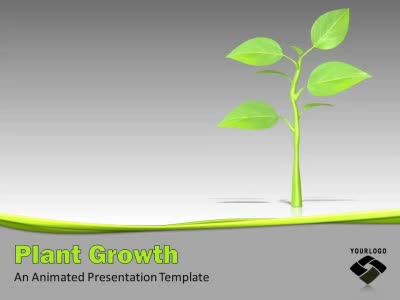 ID# 9992 - Growing Plant - PowerPoint Template