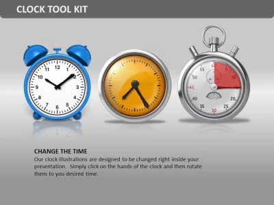 ID# 10022 - Clock Tool Kit - PowerPoint Template