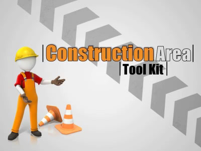 construction area tool kit - a powerpoint template from, Powerpoint templates