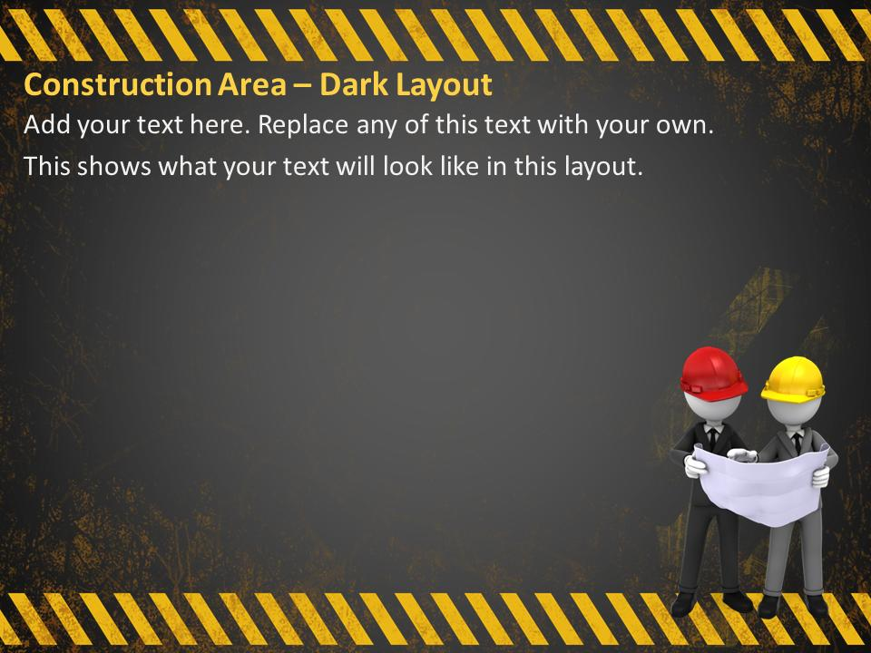 Construction Area Tool Kit - A Powerpoint Template From