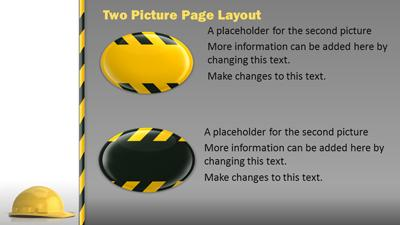 Hard hat safety a powerpoint template from presentermedia home powerpoint templates toneelgroepblik Images