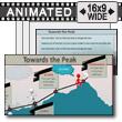 ID# 10805 - Towards The Peak - PowerPoint Template