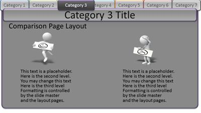 interactive tabs category pages a powerpoint template from