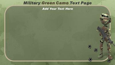 military camo - a powerpoint template from presentermedia, Modern powerpoint