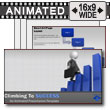 ID# 11863 - Climbing and Falling From Success - PowerPoint Template